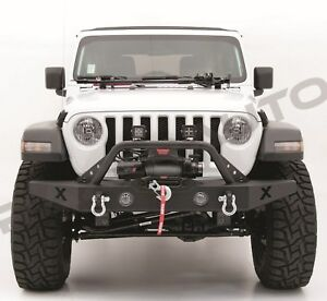 X Classic Rock Crawler Front Bumper Winch Plate Dring For 18 19 Jeep Jl Wrangler