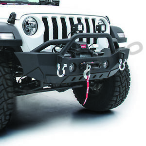 Hd Stubby Rock Crawler Front Bumper winch Plate dring For 18 19 Jeep Jl Wrangler