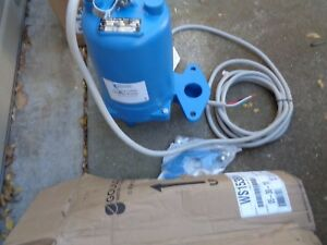 New Goulds Ws1538bhf Sewage Wastewater Submersible Pump 1 1 2 Hp 200 Gpm