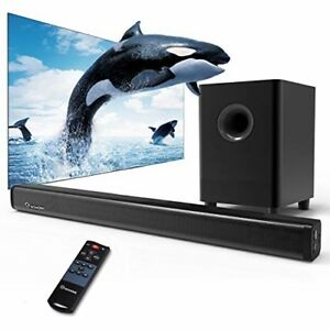 2.1 Channel Sound Bar Wohome TV Soundbar with Subwoofers and Wireless Bluetooth