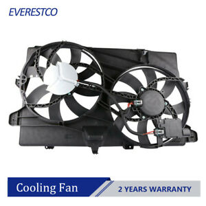 Dual Radiator Cooling Fan Assembly For 2007 2015 Ford Edge Lincoln Mkx