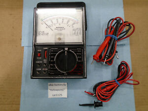 E175 Micronta 22 204a Multi meter Analog Volt Ac Dc Ohm Amp W Mirrored Scale