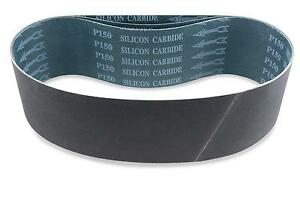 2 1 2 X 48 Inch 24 Grit Silicon Carbide Sanding Belts 6 Pack