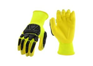 West Chester Work Gloves Hi vis Safety Impact Protection Palm Dip Extra Small