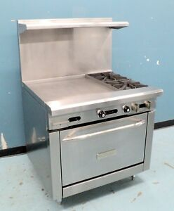 Royal Range 36 Range 2 Open Burners W 24 Griddle Standard Oven Refurbished