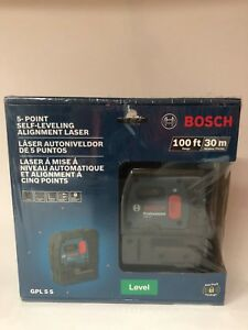 new Bosch Gpl 5 S 5 point Self leveling Plumb And Square Alignment Laser