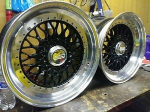 Jdm Bbs Rs Wheels 17x9 5 5x114 3 Bolt Pattern