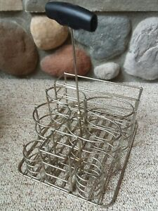 Vtg Industrial Heavy Metal Wire Holder Organizer Diner Restaurant Basket Tray