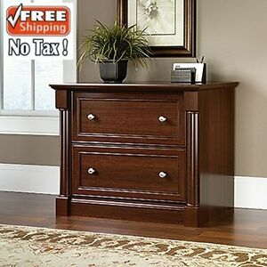 Filing Cabinet Cherry File Files Lateral Wood Storage Letter Legal Size Office