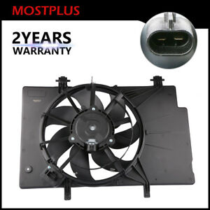 Front Radiator Cooling Fan Assembly W 7 Blade For Ford Fiesta 1 6l Be8z8c607a