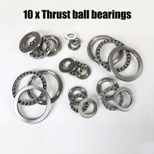 10pcs 51100 51206 Axial Bearing Steel Thrust Ball Bearings Sealed 3 Parts Newus