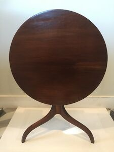 Antique Mahogany Flip Tilt Top End Table Belonged To One Of Ca S First Governor