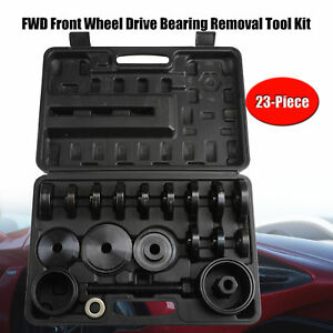 Fwd Front Wheel Drive Bearing Removal Adapter Puller Pulley Tool Kit 23pc