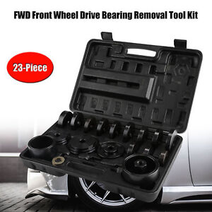Front Wheel Bearing Press Tool Removal Adapter Puller Kit 23 Pieces