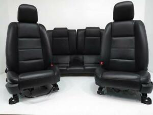 Ford Mustang Seats Black Leather 2005 2006 2007 2008 2009 Front Rear Seat Set