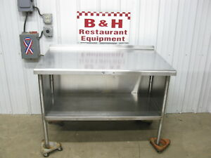 48 Stainless Steel Heavy Duty Work Top Kitchen Two 2 Door Cabinet Table 4