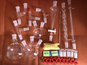 29pcs 24 40 Advanced Chemistry Lab Glassware Kit With Glass Ground Joint