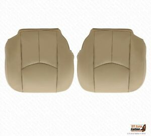 2003 04 05 2006 Chevy Tahoe Driver Passenger Bottom Vinyl Seat Cover Shale Tan