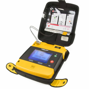 Physio Control Lifepak 1000 Aed With Case Battery And Electrodes