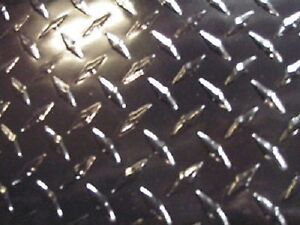 Aluminum Diamond Plate Powder Coated Black 045 X 36 X 36 Black
