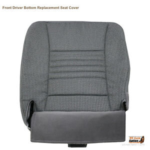 For 2008 Dodge Ram 2500 3500 Regular Cab Driver Lower Seat gray Cloth Cover