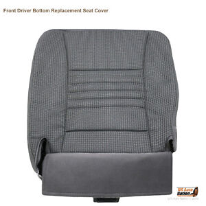 2008 Dodge Ram 1500 2500 3500 Regular Cab For Driver Lower Seat Cover Gray Cloth