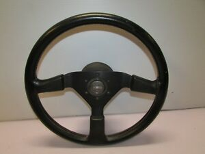 Jdm Momo Race Steering Wheel Made In Italy Genuine Used Black 6 Bolt