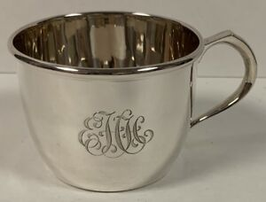 Vintage Cartier Sterling Silver Tea Cup Or Baby Cup Excellent Condition