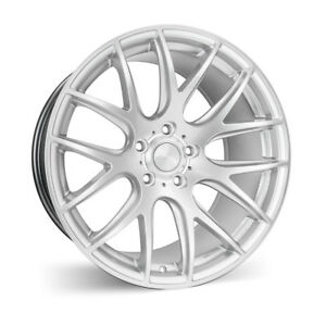 Esr Sr12 18x8 5 35 18x9 5 40 5x120 Silver Machined Face Staggered set Of 4