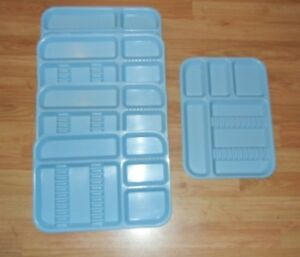 Lot Of 5 Zirc Co Clive Microban Plastic Blue Dental Instrument Trays
