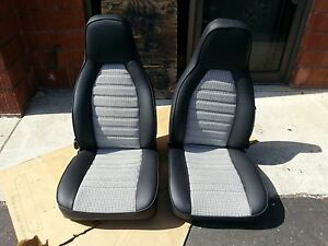 Porsche 911 912 924 944 Seat Kit Blk wht Hounds Tooth Kit Beautiful New