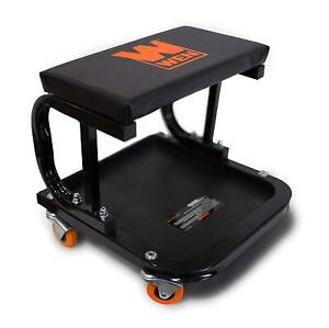 Heavy Duty Rolling Mechanic Seat Rolling Work Chair Tools Tray Storage Auto Shop