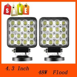 6pcs 48w 12 24v Flood Lamp Led Work Light Boat Tractor Truck Offroad Suv Ute 4wd