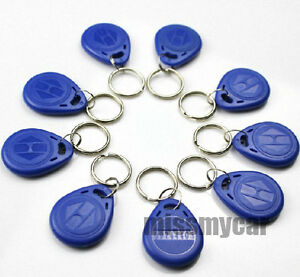 50pcs 125khz Rfid Proximity Frid Card Keyfobs For The Rfid Reader Use Bule sn t