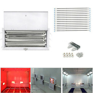 1 2 8x 3kw Spray Baking Booth Infrared Paint Curing Lamps Heaters Heating Lights