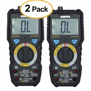2 X Digital Multimeter Temperature Portable Voltage Tester Resistance Tester Ma