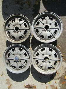 Porsche 914 Factory Pedrini Alloy Wheel Set Nice