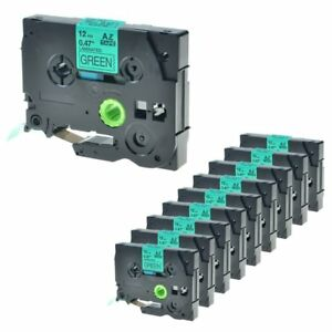 10 Packs Tz 731 12mm Black On Green Label Tape Tze 731 1 2 For Brother P touch