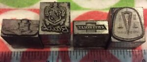 Lot Of 4 Vtg Automobile Printers Blocks hudson buick chevrolet Cadillac