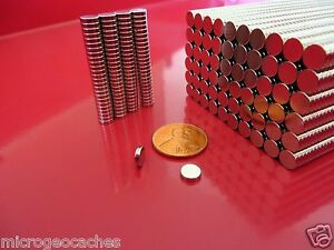 3 000 Strong Rare Earth Neodymium Disc Magnets 1 4 X 1 16 Inch New 6 X 1 5mm