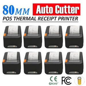 8x Usb Pos Receipt Thermal Printer 80mm paper Roll High speed Auto Cutter Ma