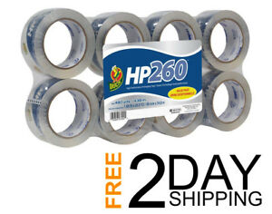 Duck Hp260 Packing Tape Refill Heavy Duty 8 Rolls 1 88 Inch X 60 Yard Clear