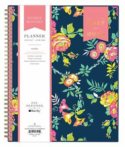 Day Designer For Blue Sky 2017 2018 Academic Year Weekly Monthly Planner Tw