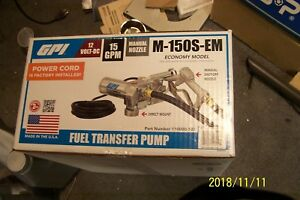 Gpi M 150s em 12 Volt dc Fuel Transfer Pump 15 Gpm New