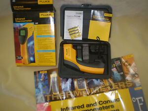 Fluke 63 Ir Thermometer Barely Used In Box With Hardcase