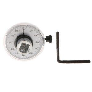 Analogue Torque Angle Gauge Dial Torq Wrench 0 360 Degrees 1 2 Drive Tool