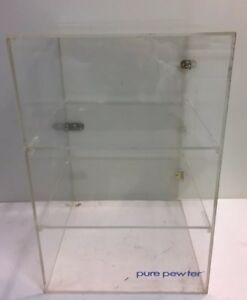 Acrylic Lucite Showcase Jewelry Pastry Bakery Counter Display W door