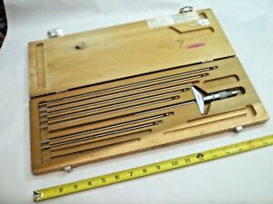 Scherr tumico Machinist 5 Thru 12 Depth Micrometer Set 001 Made In Usa