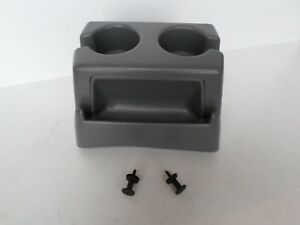 92 96 Ford F150 Cup Holder Bench Seat Large Tall Cup Holder Light Gray W mounts