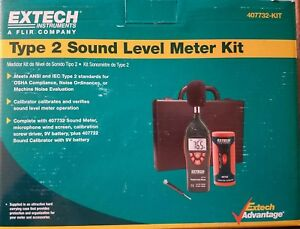 Extech Instruments Type 2 Sound Level Meter Kit 407732 new